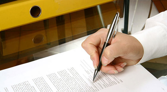 document being signed