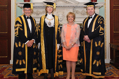 Vice-Chancellor, Chancellor, Pro-Chancellor and Margaret Hodge
