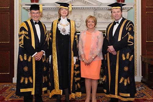 Vice-Chancellor, Chancellor, Pro-Chancellor and Margaret Hodge