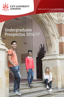 Undergraduate Prospectus cover for 2016 academic year