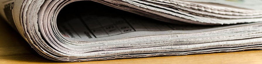 A folded newspaper