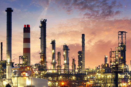 Factory in the oil and gas industry