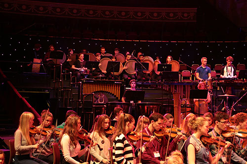 City University Music Department Students performing in Royal Albert Hal