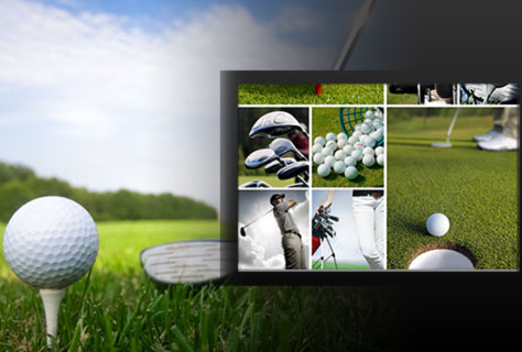 Assortment of golf related images