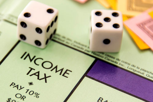 Income tax on a monopoly board