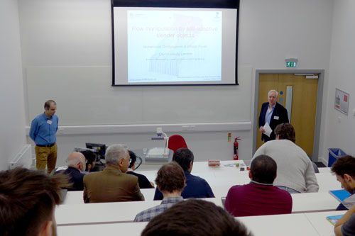 Mohammad Omidyeganeh & Alfredo Poineli speaking at the MCSE Symposium