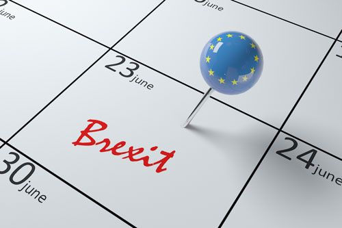 A pin on June 23rd in a calendar marked brexit