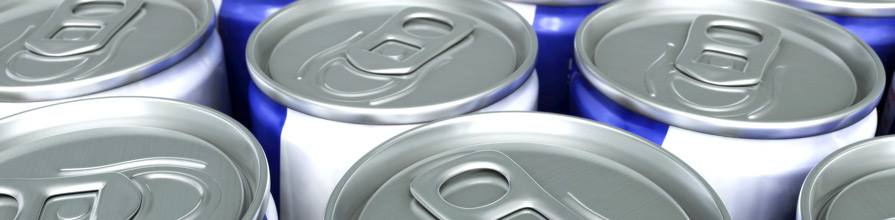 Several energy drinks cans