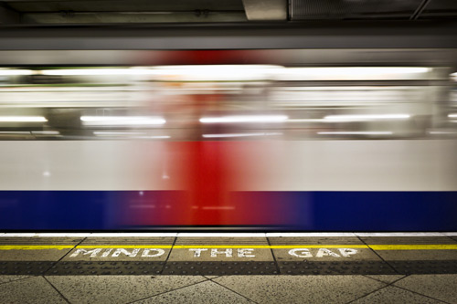 London Tube blurred