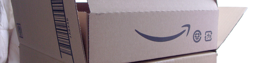 Amazon box with smile logo