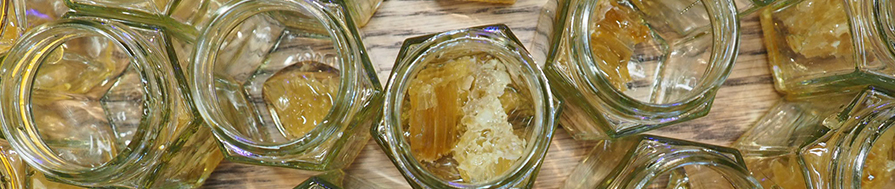 Image of jars filled with honey