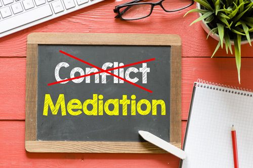 Conflict (crossed out) and mediation
