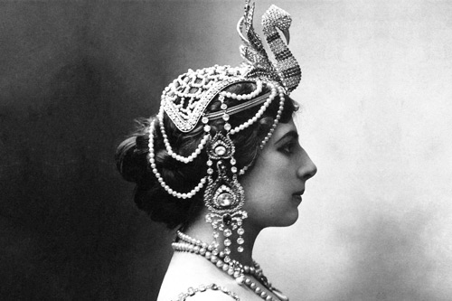 Mata Hari, first world war spy.