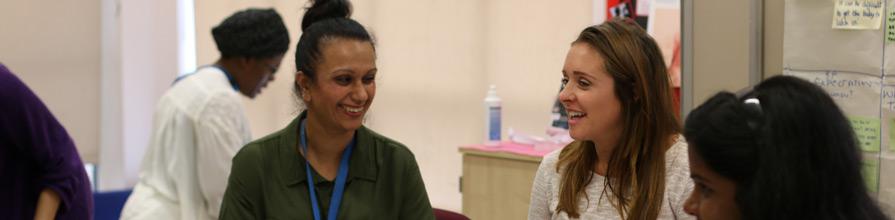 Women takling at the REACH Pregnancy Programme