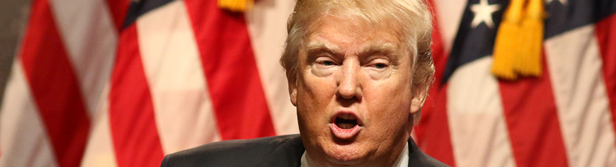 American President and businessman Donald Trump