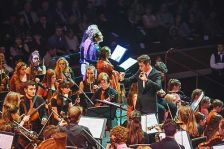 Cornwall Youth Orchestra on stage at the Youth Proms