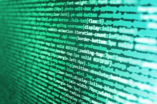 strings of data code