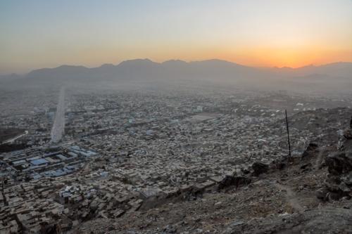 Kabul, Afghanistan at sunset