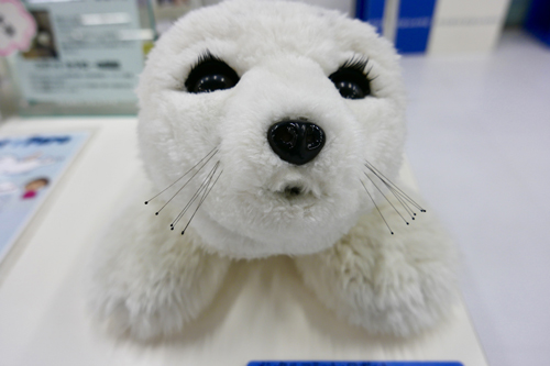 A robot that looks like a plush seal