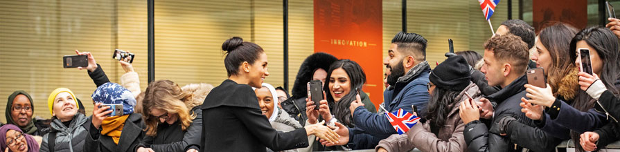Meghan Markle with City students hero image