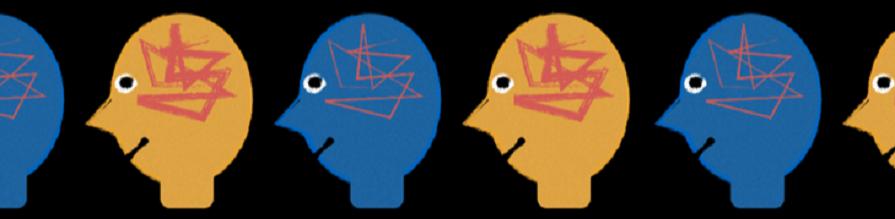 illustration of disinhibited brains to illustrate Dr Elliot Freeman visual ear research