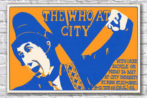 The Who at City poster