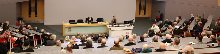 Isabel Hilton OBE giving the 2019 James Cameron Memorial Lecture