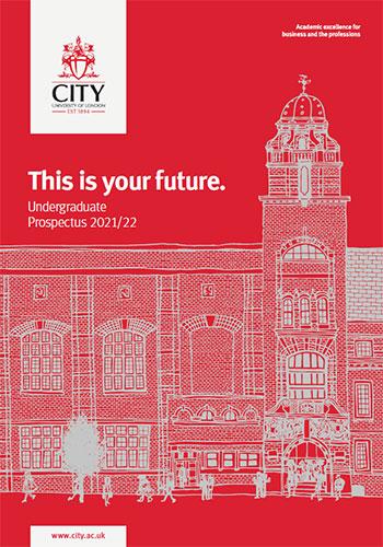 Undergraduate Prospectus cover for 2020/21 academic year