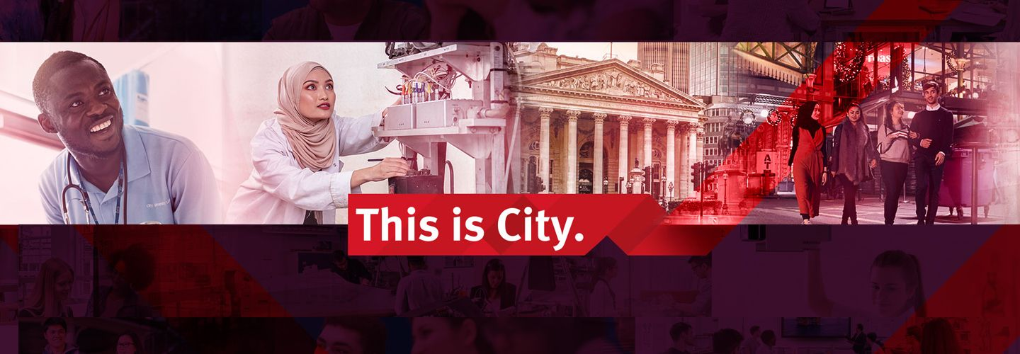 'This is City' branding collage of students smiling