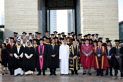 Cass Executive MBA students from 22 nationalities shift tassels in Dubai