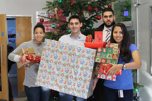 City students collect presents to donate to Islington children