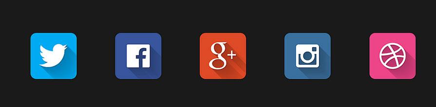 Social media company icons
