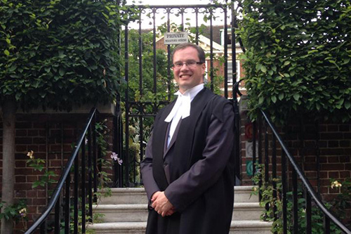 Howard Leithead on the day called to the Bar