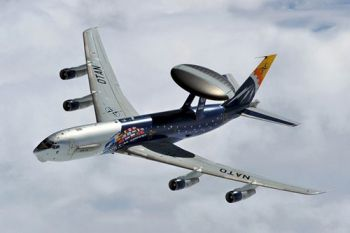 A Boeing E3 Sentry aircraft