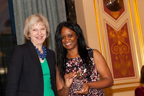 Alumna and Theresa May