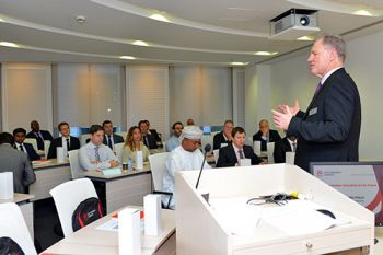 Tilmann teaching in Dubai