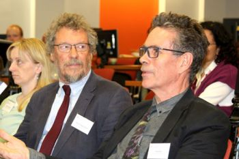 "Professor Nigel Duncan and Andy Boon in the audience of Professor Peter Hungerford-Welch's inaugural lecture: ""Abuse of process"": An effective safeguard in the criminal justice system"