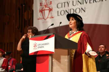 Baroness Helena Kennedy at the City University London July Graduation