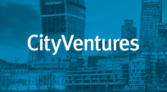 CityVentures logo on blue background