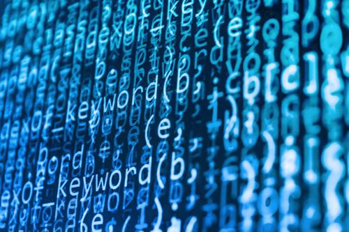 Script on computer screen. Neil Thurman, robo-journalism