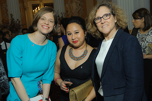 Marianne Lewis and guests at the Mansion House for the Rector's Dinner 2017