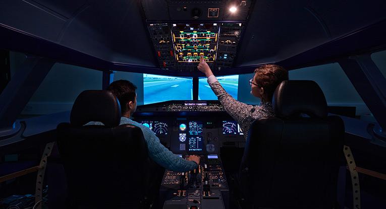 Airbus-cockpit-simulator