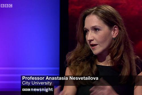 Anastasia Nesvetailova Newsnight thumbnail