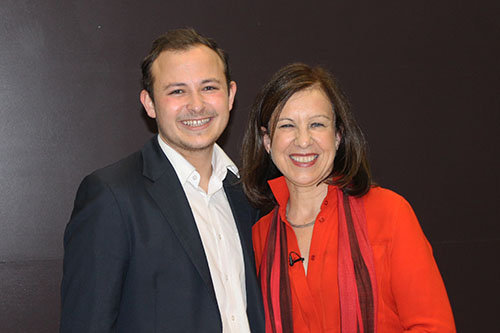 Lyse Doucet and Kaine Pieri
