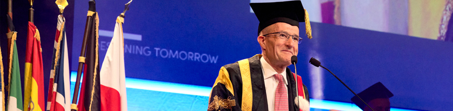 President Professor Sir Paul Curran awarded honorary doctorate
