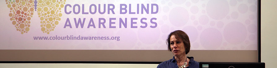 Karthryn Albany-Ward gives talk on the Colour Blind Awareness organisation