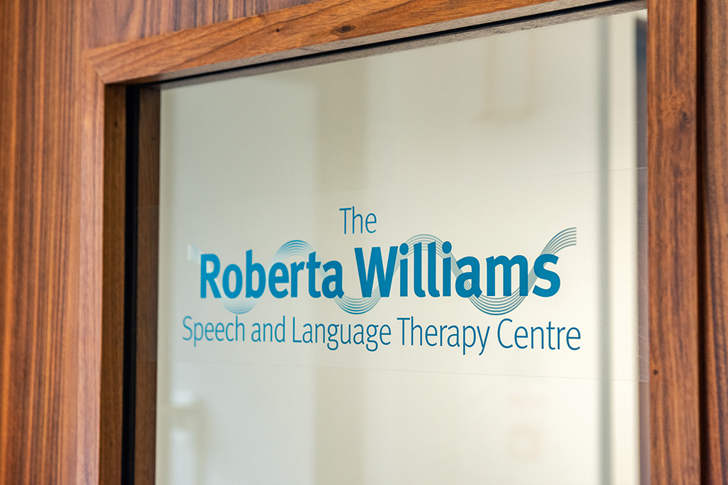 Roberta Williams speech and language therapy centre signage