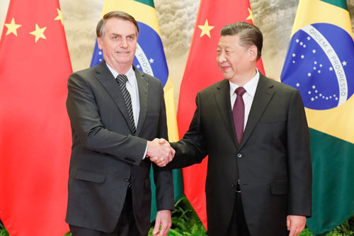 Xi Jinping and Jair Bolsonaro
