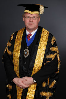 Sir David Wootton, former Lord Mayor of London and Alderman of the Ward of Langbourn in formal robes