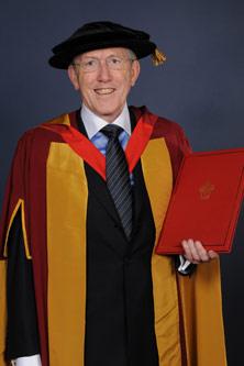 His Honour Judge Donald Cryan in formal robes